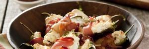 ¿Cómo preparar chiles rellenos de queso de cabra?